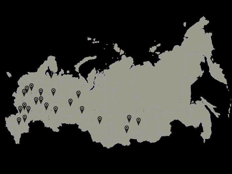 География применения ЛКМ ROSCOAT